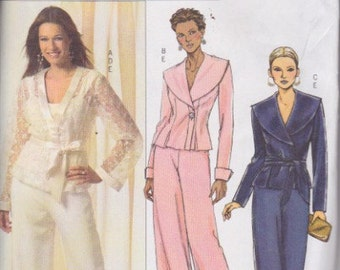 Butterick B4917 Misses' Top, Belt, Camisole and Pants Sizes 8, 10, 12, 14 UNCUT pattern Rare and OOP Easy Pattern