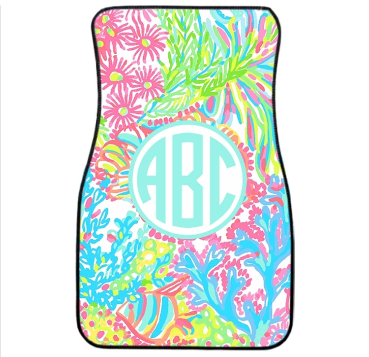 7f0e873a4 Lilly Pulitzer Dossie Set 8988186 EPZZEXB Lilly Pulitzer Sets: Lilly  Pulitzer Inspired Monogrammed Car Mat Set By Tinytulip