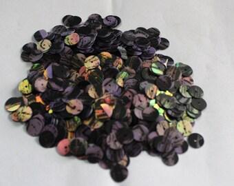 100 Purple Color/Round Sequins / Black Lines Texture/ KRS656