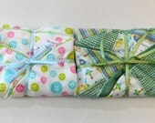 Set of 2 Boppy Pillow Cover Buttons and Patchwork   Nursing Pillow Cover   Nesting Pillow Cover  Nurture Pillow Covers