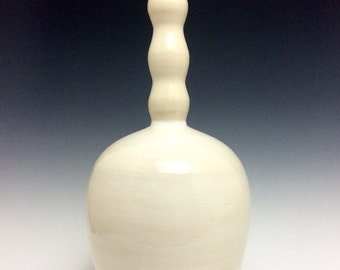 Contemporary White Porcelain Vase: Modern Ceramic Art and Home Decor