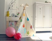 Teepee, MIDI size, tipi tent, play teepee, childrens teepee, teepee with poles and mat, customize teepee, Moozle teepee