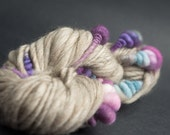 Pansy, Mostly Merino, CoilSpun BeeHive Art Yarn, HandSpun HandDyed Yarn, 30 yards