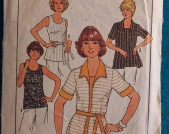 Vintage 1977 Woman's Top and Cardigan  Simplicity