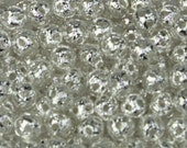 100 pcs of Silver Plated Filigree Round Beads Spacer - 4mm - Ship from California USA