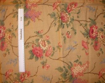 2  Yards of Ralph Lauren Decorator Fabric with Flowers