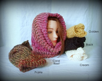 Knit cowl - machine wash and dry - many colors available