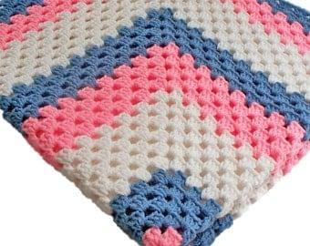 Crochet Afghan Custom Color Handmade Throw Made to Order