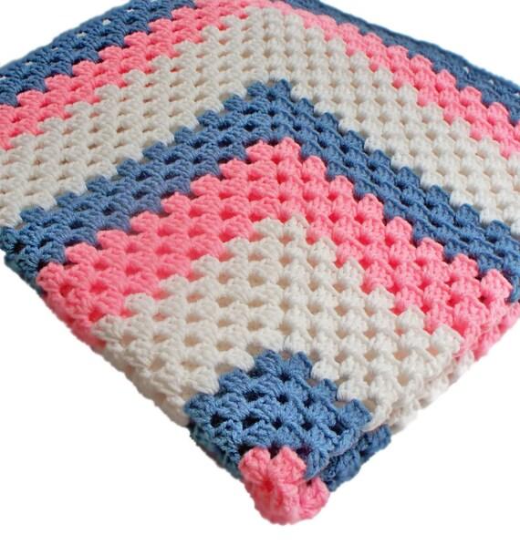 Crochet Afghan Custom Color Handmade Throw Made to Custom Order