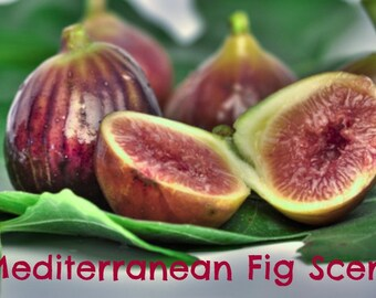 MEDITERRANEAN FIG Scented Soy Wax Melts Tarts - Fruit - Wickless Candle - Air Freshener - Highly Scented - Handmade In USA