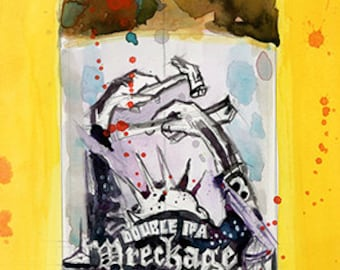 Solemn Oath Wreckage Master Beer Print from Original Watercolor  (Print Size - 8.5  x. 11) or (Print Size - 10 x 20)