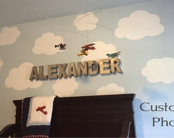 Set of 10 Clouds Wall Decal - Cloud Wall Decal - Cloud Decal - Nursery Wall Decal - Nursery Cloud Wall Decal - Wall Decal