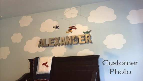 Set Of Clouds Wall Decal Cloud Wall Decal Cloud Decal - Nursery wall decals clouds