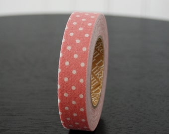 Fabric Tape - Pink with White Dots (1 Roll)