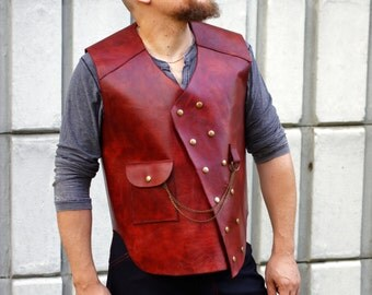 Custom Leather Military Vests---Oil and Wax Tanned