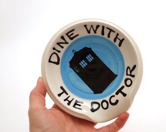 Doctor Who spoon rest - Dr Who spoonrest - gift for whovian - TARDIS - gift for cook - Doctor Who - gifts under 20 - home and living