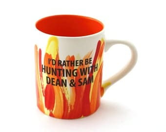 Supernatural - Supernatural mug - home and living - Hunting with Dean and Sam - Winchester brothers  - 16 oz mug