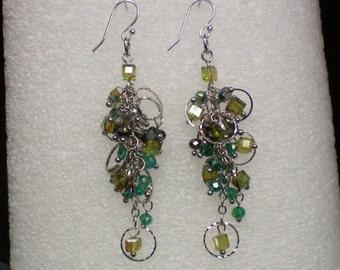 Earrings Dangle Crystals