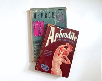 Vintage Books - Erotica - American Aphrodite vol 2 no 6 & Aphrodite by Pierre Louys 1932 - Illustrated - 50 Shades of Literature