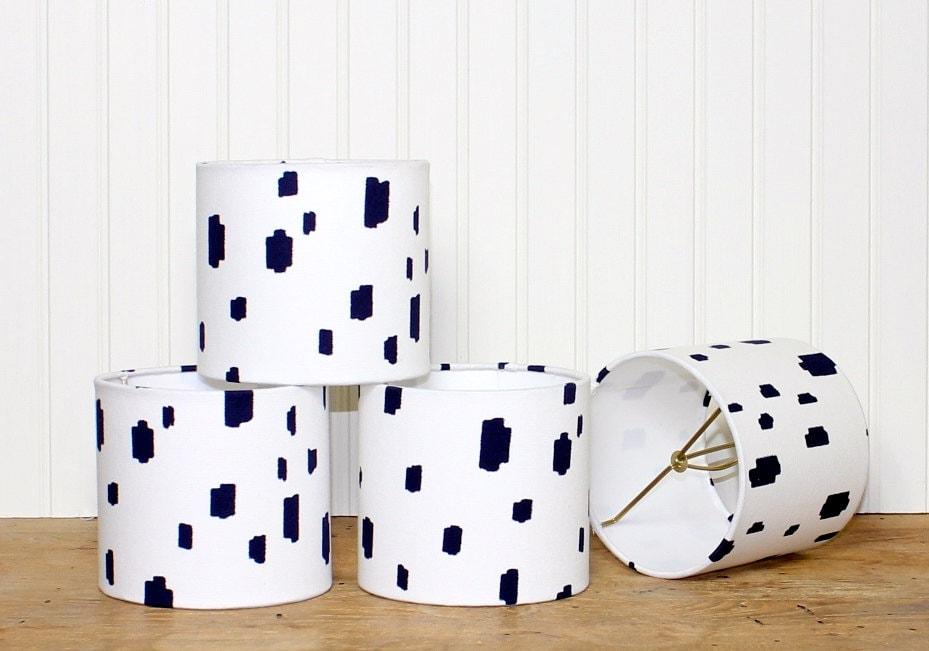 Modern Chandelier Shade Mini Drum Shade Lamp Shade Blue