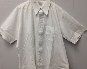 1970s Arrow Burma white button down shirt