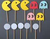 1 Dozen Pacman Assortment Cupcake Picks