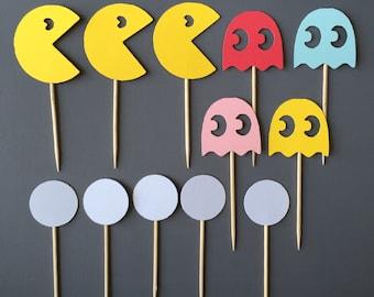 3 Dozen Pacman Assortment Cupcake Picks