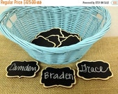 On SALE- 50 Chalkboard Name Tags- set of 50- Magnetic Reusable Name Tags--Perfect for Weddings, Office Parties, Meeting, and Corporate Event