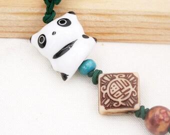 Kawaii panda phone charm/ dust plug (DP)