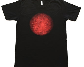 Mens Tee Shirt PLANET Tee planet mercury solar system T SHIRT planet shirt