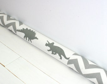 Draft Stopper - Dinosaur Decor  - Nursery Decor - Boys Room Decor - Modern Home Decor - Chevron Dinosaur Door Snake 170.