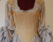 Corset stays rococo golden silk romantic steampunk Marie Antoinette