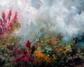 Painting landscape Flowers Original, Original Painting, Wall art, oil painting, flower painting,