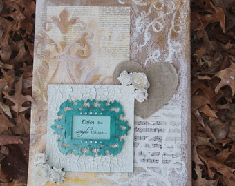 Enjoy the Simple Things Mixed Media Canvas