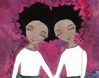 African Sisters Black Sisters Friends