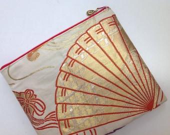 iPad Case Upcycled From Vintage Obi - Folding Fan