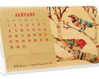 2017 Real Wood Critter Desk Calendar - Collaboration with Dolan Geiman - WCAL011