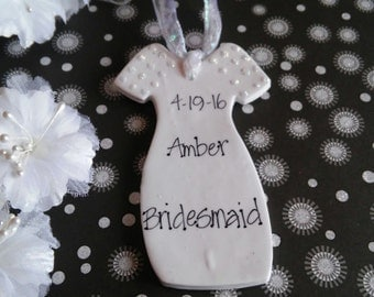 Bridesmaid Personalized Gift, Personalized Ornament, Wedding Party Gift