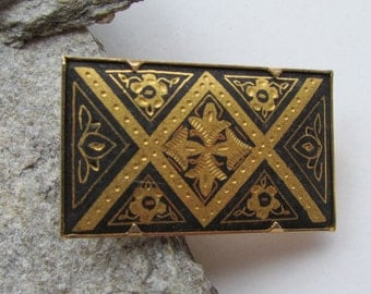 Vintage Spanish Damascene pin