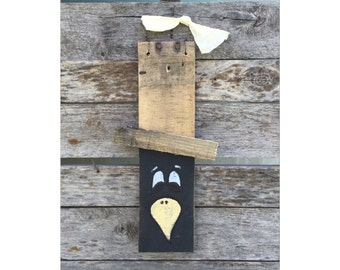 Fall Decorations - Crow - Black Crow - Halloween Decor - Fall Decor - Rustic Decor - Reclaimed Wood - Art - Chic