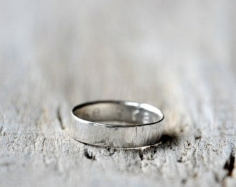 Sterling Silver Band - Custom Stamping on the inside - man and unisex