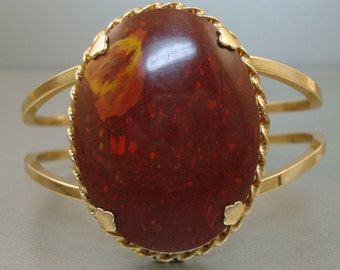 Big Rusty Red Stone Bracelet