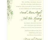 Vintage Garden Wedding Invitation - Collection options available