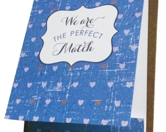 The Perfect Match Matchbook Greeting Card for Anniversary, Love or Wedding