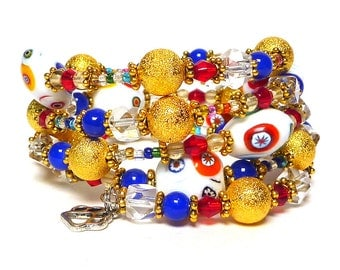 LADIES NIGHT OUT Coil Beaded Bracelet by Beading Divas Fundraiser