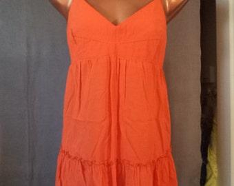 Ladies Orange Vintage Style Babydoll Camisole Top