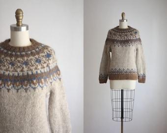 1960s fair isle sweater