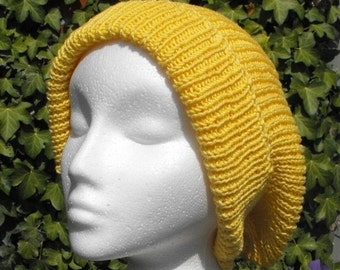 HALF PRICE SALE Instant Digital Pdf File knitting pattern Super Slouch Hat pdf download knitting pattern by Madmonkeyknits