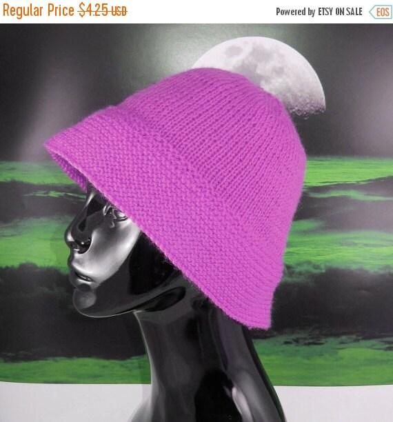 SALE 30% OFF Digital pdf file knitting pattern -Simple Brim Sun Hat  pdf download knitting pattern