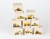 Construction Vehicle Wooden Block Toys Set 2
